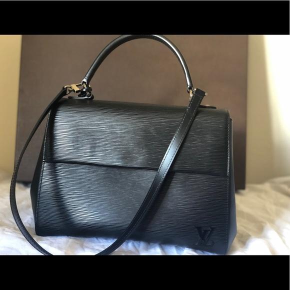 Louis Vuitton Handbags - Louis Vuitton Black Cluny MM Epi Noir